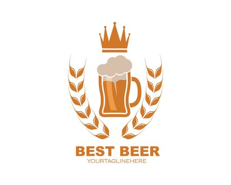 beer logo icon vector illustration design template Stock Illustratie