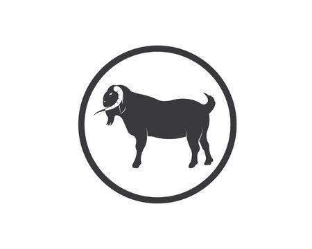 Goat Logo Template vector illustrtion design