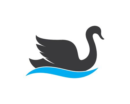 Swan logo Template vector illustration design