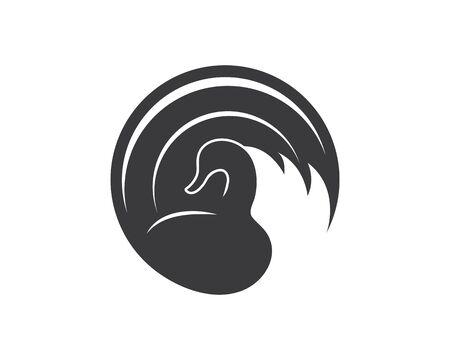 Swan logo Template vector illustration design Stockfoto - 128907122