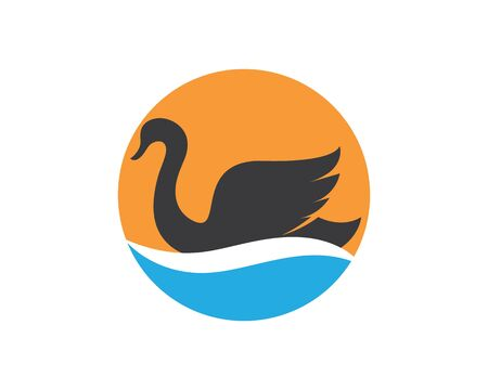 Swan logo Template vector illustration design Stockfoto - 128907123