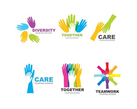 Hand Care Logo Template vector icon Business 版權商用圖片 - 128907238