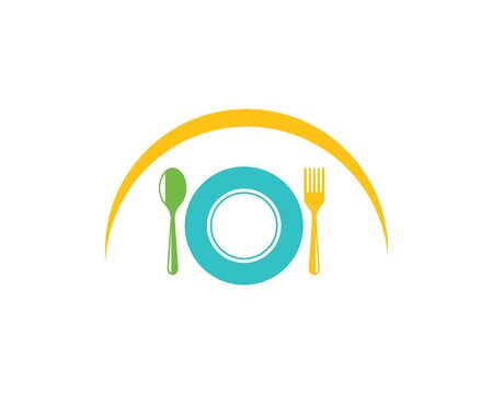 fork,spoon logo icon vector illustration template