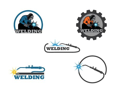 welding icon vetor illustration design template Banque d'images - 128907363
