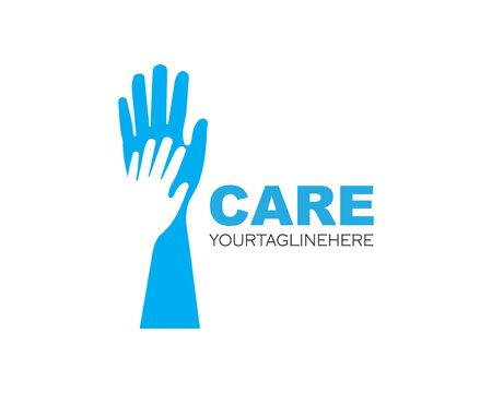Hand Care Logo Template vector icon Business 版權商用圖片 - 128907375