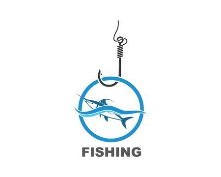 fishing logo icon badge vector illustration design 版權商用圖片 - 128907582