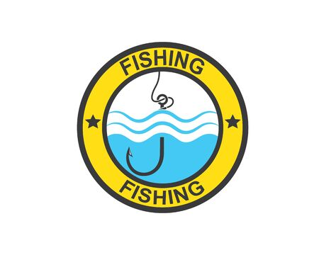 hook  logo icon of fishing vector illustration design 写真素材 - 128907583