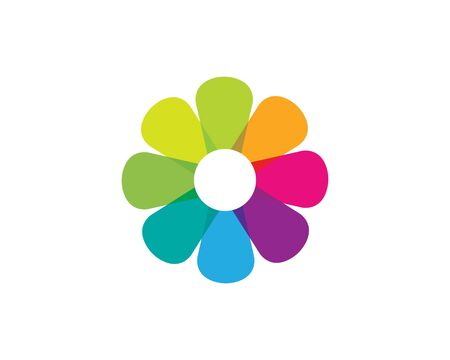 flower icon vector illustration design template Foto de archivo - 128998297