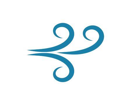 wind icon logo vector illustration design Zdjęcie Seryjne - 128998323
