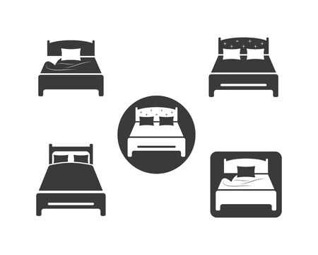 bed icon vector illustration design template