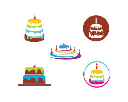 cake bakery logo design ilustration Vectores