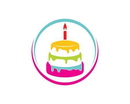 cake bakery logo design ilustration Иллюстрация