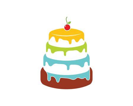 cake bakery logo design ilustration Illustration