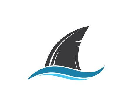 Haifischflosse Symbol Vektor Illustration Design Vektorgrafik