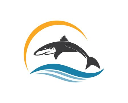 shark icon vector illustration design template