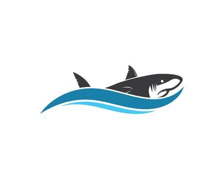 shark icon vector illustration design template
