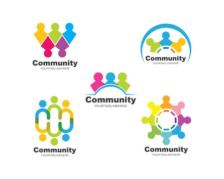 leadership,community,social and company Logo icon vector design Ilustracja