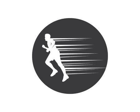running man icon vector illustration design template