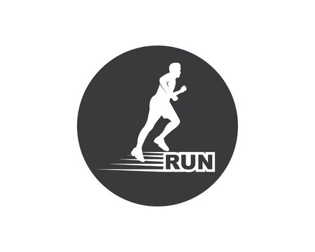 running man icon vector illustration design template