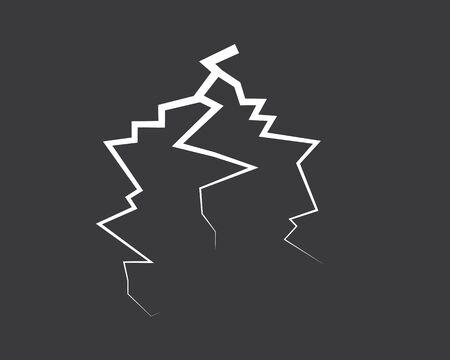 thunder vector icon illustration design Stock Vector - 129168299