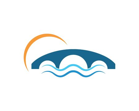 bridge Logo Template vector icon illustration design Illustration