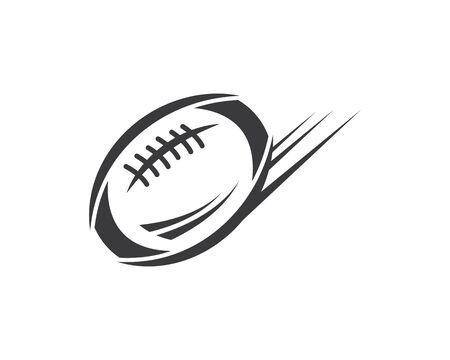 Plantilla de diseño de ilustración de vector de icono de pelota de rugby
