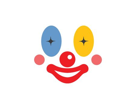 clown face  illustration vector icon design template
