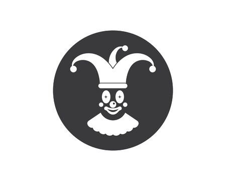 clown illustration vector icon design template Ilustrace