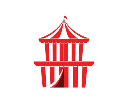 Circus tent logo template Vector illustration Ilustrace