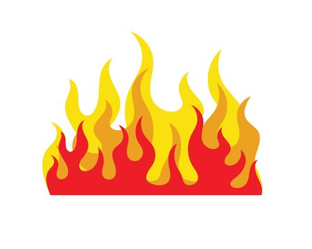 Fire flame Logo icon vector illustration design template 写真素材 - 129456444
