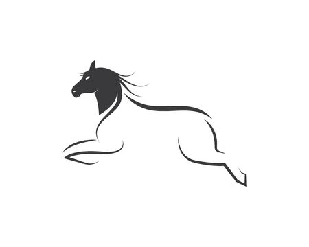 Horse Logo Template Vector illustration design Çizim