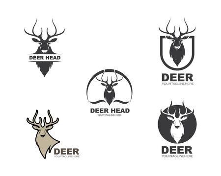 Deer ilustration logo vector template Ilustrace