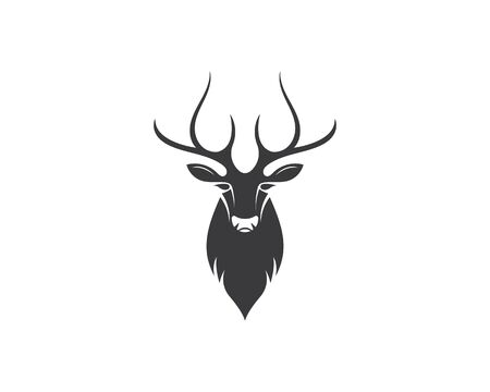 Deer ilustration logo vector template Ilustrace
