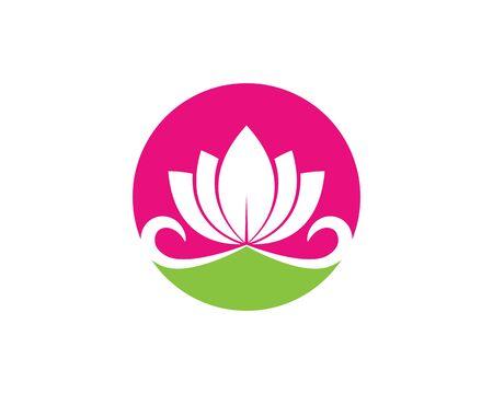 Beauty Vector Lotus flowers design logo Template icon
