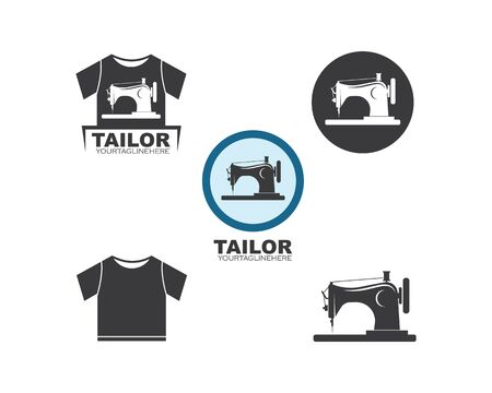sewing machine icon logo vector illustration