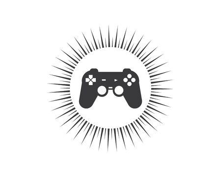 video game controller logo icon vector illustration design 向量圖像