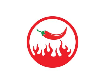 Chili logo icon vector illustration design template Ilustração