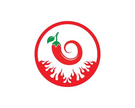 Chili logo icon vector illustration design template 向量圖像