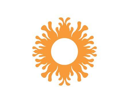 sun Logo icon vector illustration design template