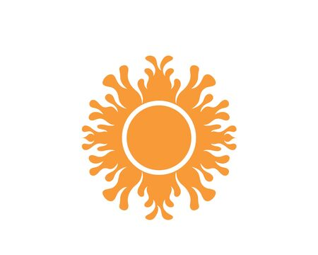 sun Logo icon vector illustration design template 写真素材 - 129457192