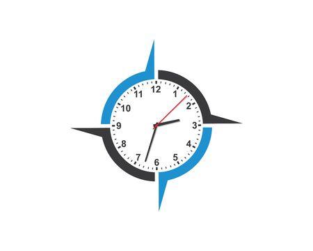 clock,time logo icon illustration design vector 向量圖像