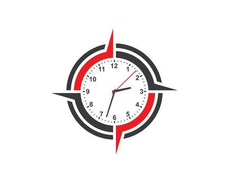 clock,time logo icon illustration design vector Foto de archivo - 129457208