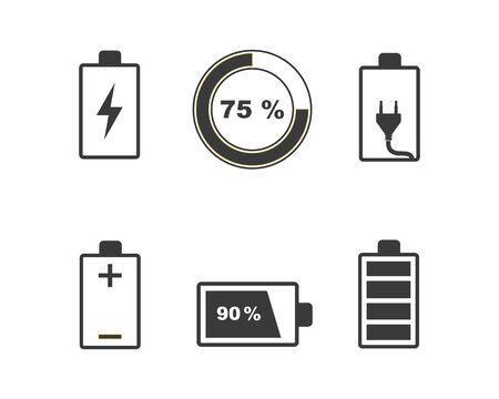 battery icon logo illustration vector design