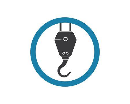 Crane hook logo vector template Stock Illustratie