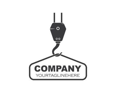 Crane hook logo vector illustration template