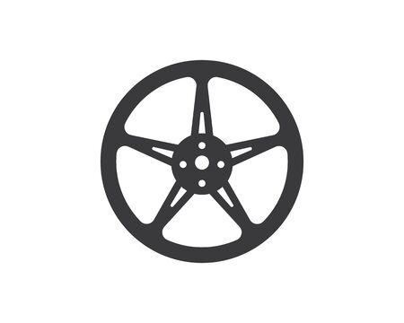 wheel icon logo illustration vector template design Stock Illustratie