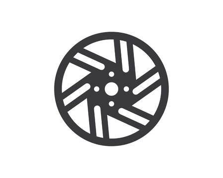 wheel icon logo illustration vector template design  イラスト・ベクター素材