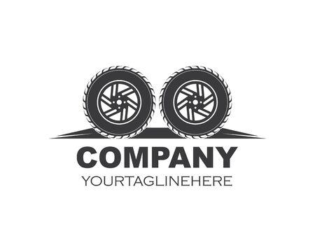 tire icon logo illustration vector template design