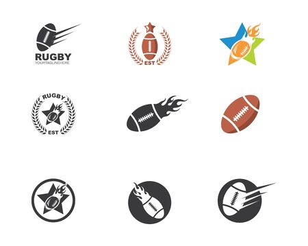 rugby ball icon vector illustration design template