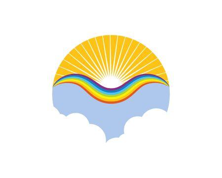 rainbow logo icon vector template design